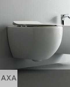 Axa Wand-WC Glomp | spülrandlos | 52cm | mit WC-Sitz weiß