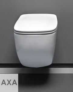 Axa Wand-WC White Jam | spülrandlos | 52cm | mit WC-Sitz weiß
