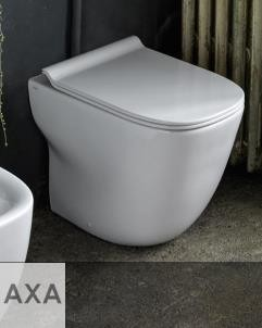 Axa Stand-WC Wild | spülrandlos | 52cm | mit WC-Sitz weiß