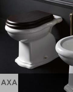 Axa Stand-WC Contea   mit WC-Sitz aus dunklem Holz