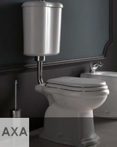 Axa Stand-WC Contea mit Wandspülkasten   mit WC-Sitz in weiß