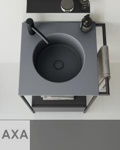Axaone Piloti' | Standwaschtisch | 54x48 | grigio matt | piombo matt