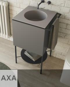 Axaone Cubo Waschtisch/Unterschrank-Kombination | 53x48 | matera matt | visione matt
