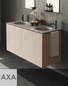 Axaone Regolo | Waschtischmöbel | 132x48 | matera matt | Pino Champagne