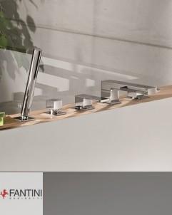 Fantini | Wannenrandarmatur AR/38 | chrom | Griffe chrom/chrom