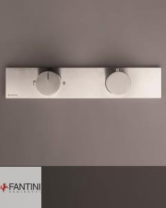 Fantini Milano | Unterputzthermostat | 2-Wege | Edelstahl