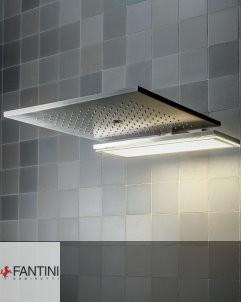 Fantini | Acquadolce light | Kopfbrause mit Weißlicht