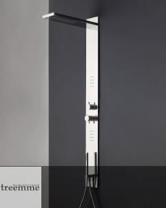 Treemme | Einbau-Duschpaneel | mit Kopfbrause und Seitenbrause