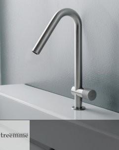 Waschtischmischer 22mm | Einhand-Bedienung | Edelstahl gebürstet | Auslaufhöhe: 180mm