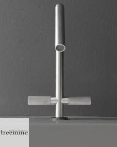 Zweigriffmischer 22mm | Edelstahl gebürstet