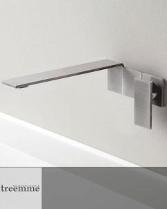 Einhebelmischer Unterputz 5mm | Edelstahl gebürstet | rechteckige Griffplatte