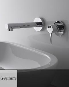 Treemme Serie  Vela   Waschtisch-Wandauslauf   chrom   Einzelrosetten, langer Auslauf