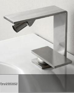 Einhebel-Bidetmischer 5mm | Edelstahl gebürstet