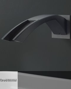 Wandauslauf Arche | schwarz matt | Kaskadenauslauf mit Etnite