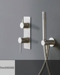 Unterputz-Mischer 40mm | Edelstahl gebürstet