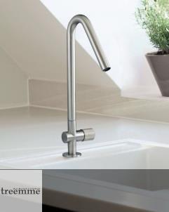 Treemme | Einhebelmischer für Küchenspülen | Serie 22mm | Edelstahl gebürstet