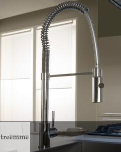 Treemme Gastro-Küchenarmatur 5501 | chrom | schwenkbare Handbrause