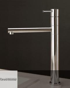 Treemme Küchenarmatur Vela | chrom | schwenkbarer Auslauf | Griff: VL