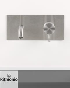 Unterputzmischer Diametro35 | Auslauf: 210mm | Wandplatte | Edelstahl