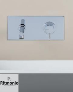 Unterputzmischer Diametro35 | Wandplatte | Auslauf gebogen: 150mm