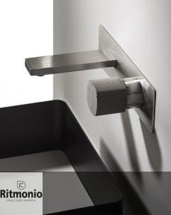 Unterputzmischer Haptic | Auslauf: 145mm | Abdeckplatte | Nickel gebürstet