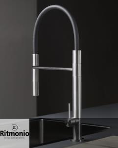 Küchen- / Gastromischbatterie Diametrotrentacinque   INOX   Einhandbedienung