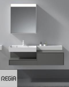 Waschplatz Scala 2 | mineral matt | 1300x470x413