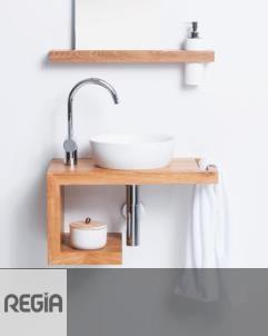 Waschplatz TAHA | Eiche | mit Spiegel