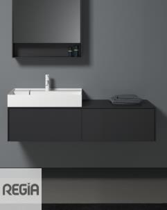 Waschplatz Scala 2 | mineral matt | 1300x470x405