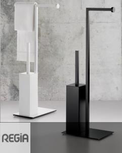 Regia | bodenstehende WC-Bürstenkombination Absolute | Alu lackiert