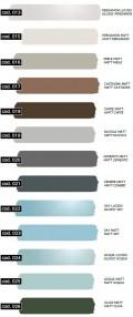 Farbauswahl aus GSG- Farbskala | 13 neue Farben