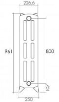 Roi Soleil Heizelement ROI970 | 96cm hoch | 227W / Element