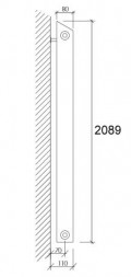Linea Heizelement L200 | 209cm hoch | 186W / Element