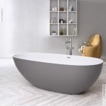 Badewanne Tay | Solidstone | bicolor | 185x85x55cm