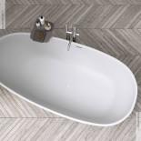 Badewanne Tay | Solidstone | weiß | 185x85x55cm