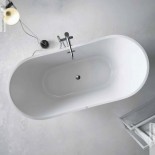 Banos10 | Badewanne Vela mit Luftmassagesystem | blanco | Acryl Polyester