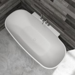 Banos10 | Wand-Badewanne Katara | mineralguss weiß | 180x82