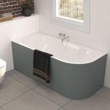 Banos10 | Wand-Badewanne Taris zum Eckeinbau | weiß | 170x80 | Linksversion