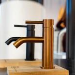 JEE-O | Waschtischarmatur Slimline | Bronze Edelstahl gebürstet | Lammert Moerman