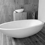 JEE-O | hohe Standarmatur Pure mit Badewanne Elaine| edelstahl poliert | Lammert Moerman