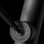 JEE-O | freistehende Brausearmatur Soho | Hammerschlag schwarz matt | 2-Wege