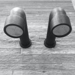 JEE-O | Kopfbrause Soho wandmontiert | Hammerschlag schwarz matt |