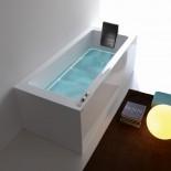 Badewanne Dream mit Ghost System | 180x80 | + elektronische Wannenrandarmatur RUE