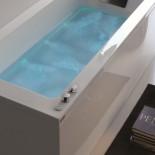 Badewanne Dream mit Ghost System | 180x80 | +elektronische Wannenrandarmatur RUE