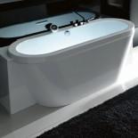 Badewanne Playa | 3 Seiten verkleidet , mit Wannenrandarmatur und Whirlpoolsystem (alte Ausführung)