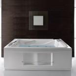 Badewanne BIS 190x150 | Optionales Zubehör: Wannenrandarmatur, Wassereinlauf, Whirlpool/Airpoolsystem TOC, Seitenschürzen