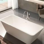 Freistehende Badewanne Viva | weiß matt