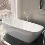 Freistehende Badewanne Brio | weiß glänzend