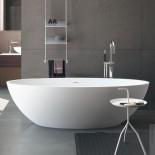 Freistehende Badewanne Carezza | weiß matt