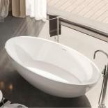 Freistehende Badewanne Carezza | weiß glänzend